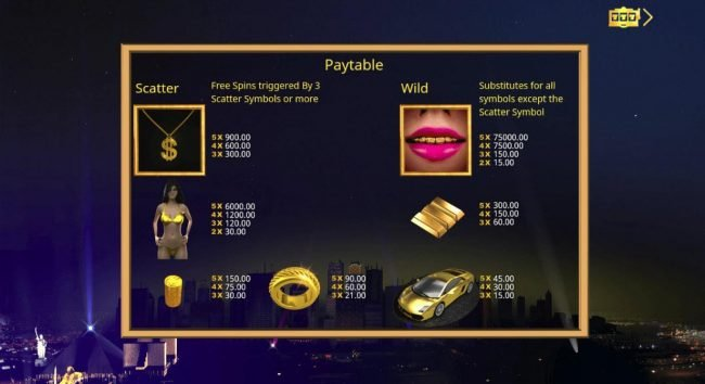 Play slots at Scatters: Scatters featuring the Video Slots Booming Gold with a maximum payout of $75,000