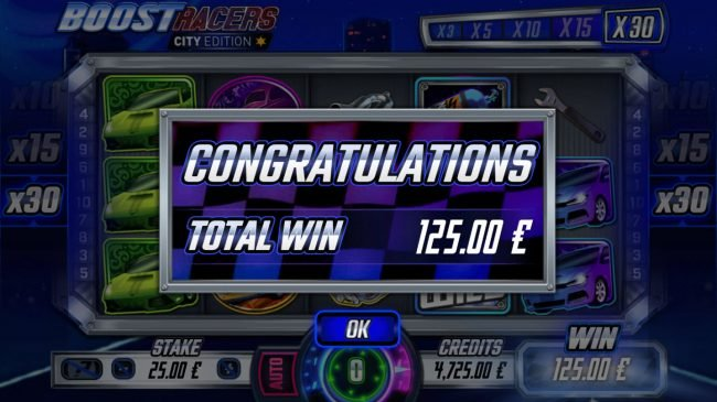 Boost Racers City Edition :: Total Free Spins Payout