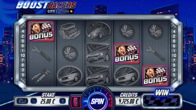 Boost Racers City Edition :: Scatter win triggers the free spins feature