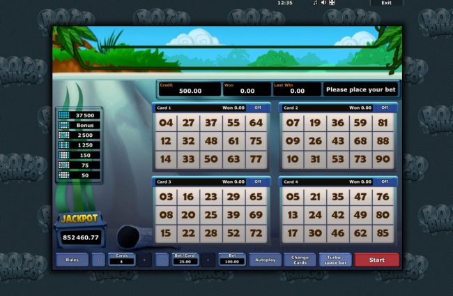 Casumo featuring the Video Slots Boto Bingo with a maximum payout of $37,500