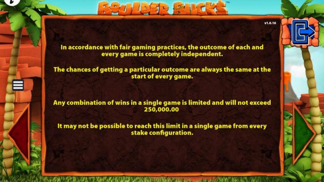 Yako Casino featuring the Video Slots Boulder Bucks with a maximum payout of $250,000