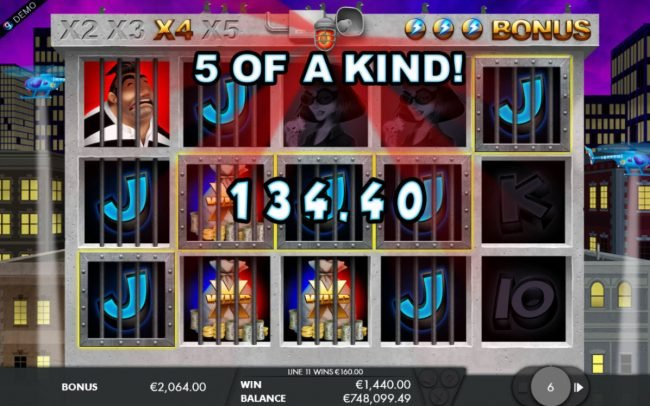 Joy Casino featuring the Video Slots Bounty Hunter with a maximum payout of $5,000