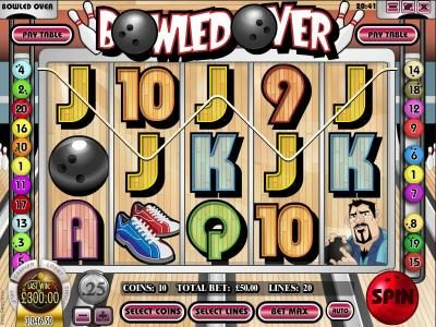 Vegas2Web featuring the Video Slots Bowled Over with a maximum payout of $7,500