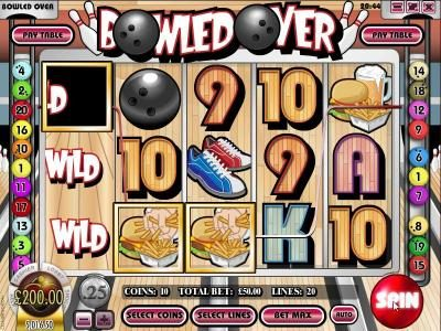 Tangiers featuring the Video Slots Bowled Over with a maximum payout of $7,500