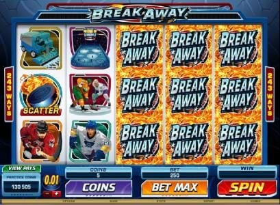 21 Jackpots featuring the Video Slots Break Away with a maximum payout of $1,000,000
