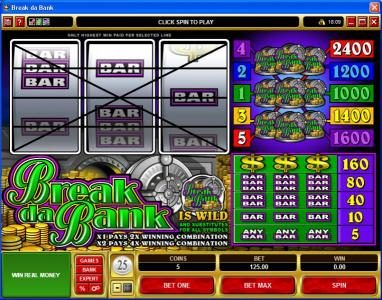 Play slots at Vegas Seven: Vegas Seven featuring the Video Slots Break da Bank with a maximum payout of $240,000