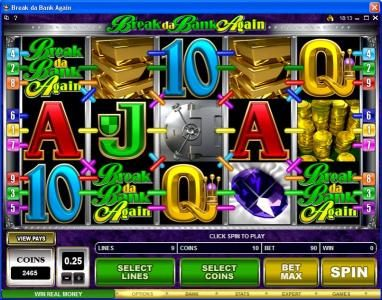 Buran featuring the Video Slots Break da Bank Again with a maximum payout of $250,000