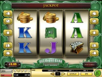 Party Casino featuring the Video Slots Break the Bank with a maximum payout of $5,000