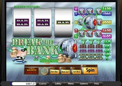 Play slots at Villa Fortuna: Villa Fortuna featuring the Video Slots Break the Bank with a maximum payout of $2,400