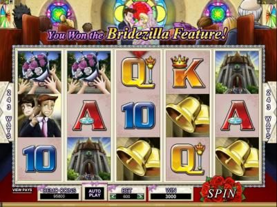 Norskespill featuring the Video Slots Bridezilla with a maximum payout of $24,000