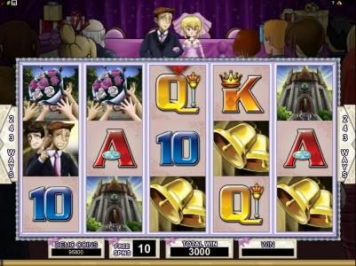 Bridezilla :: here is the start of the 10 free spins feature