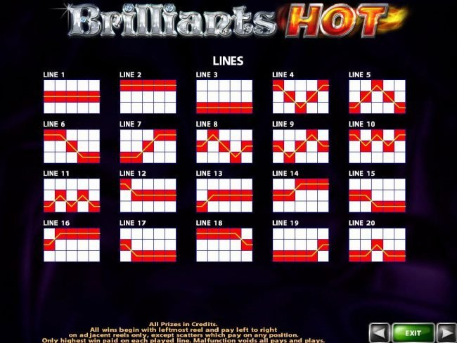 Powerspins featuring the Video Slots Brilliants Hot with a maximum payout of $250,000