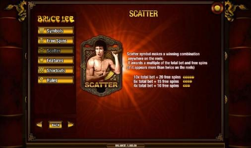 Joe Fortune featuring the Video Slots Bruce Lee with a maximum payout of $2,500