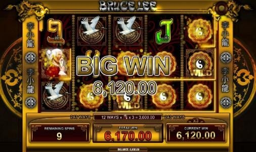 a $6,120 big win triggered during the free spins feature