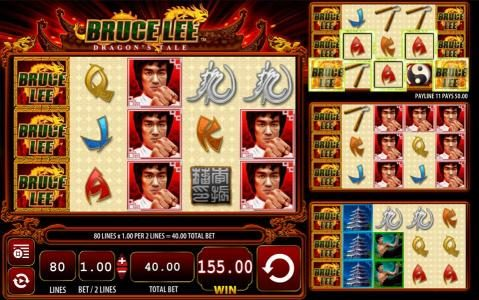 Leo Vegas featuring the Video Slots Bruce Lee Dragon's Tale with a maximum payout of $400