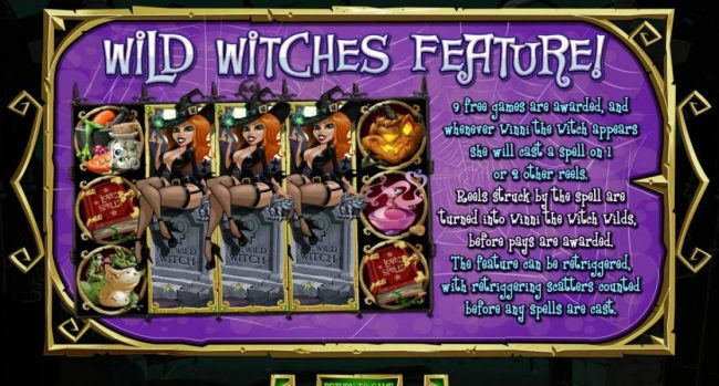 Wild Witches feature awards 9 free games