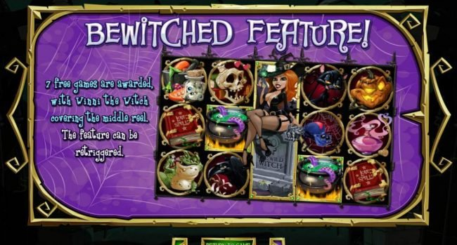 Bewitched Feature awards 7 free games.