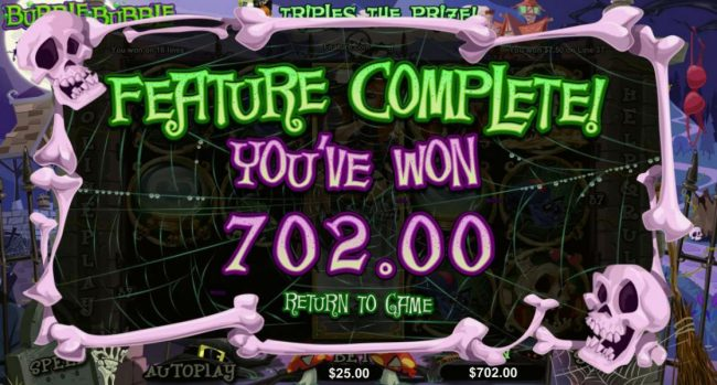 Free spins feature triggers a 702.00 big win!