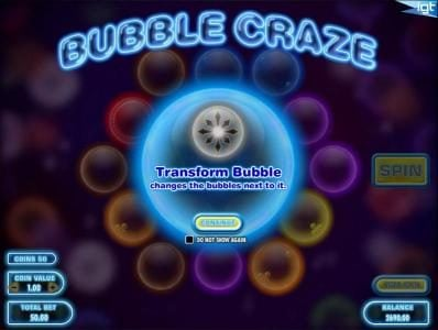 Thrills featuring the Video Slots Bubble Craze with a maximum payout of $250,000