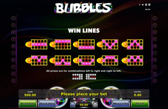 Quasar featuring the Video Slots Bubbles with a maximum payout of $25,000
