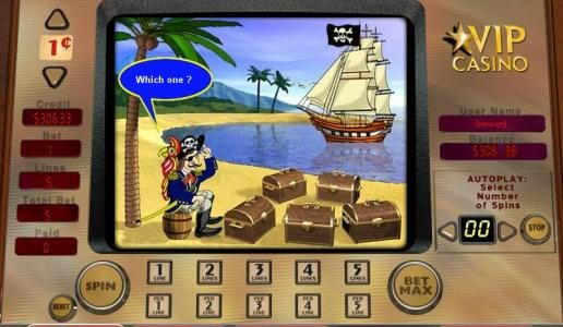 Play slots at Slots Magic: Slots Magic featuring the video-Slots Buccaneer's Bounty with a maximum payout of 10,000x