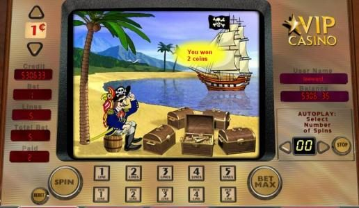 TS featuring the video-Slots Buccaneer's Bounty with a maximum payout of 10,000x