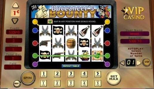 Play slots at 888 Casino: 888 Casino featuring the video-Slots Buccaneer's Bounty with a maximum payout of 10,000x