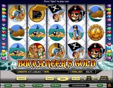 Celtic featuring the Video Slots Buccaneer's Gold with a maximum payout of $2,000
