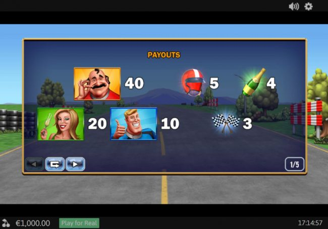 Slots Heaven featuring the Video Slots Buckle Up with a maximum payout of $78,000