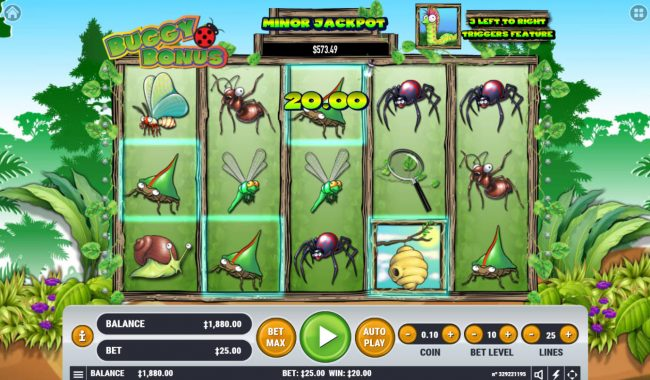 Spin Hill featuring the Video Slots Buggy Bonus with a maximum payout of $100,000
