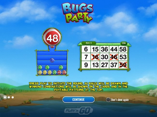 TS featuring the Video Slots Bugs Party with a maximum payout of $30,000