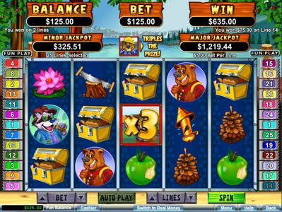 Sloto Cash featuring the Video Slots Builder Beaver with a maximum payout of $250,000