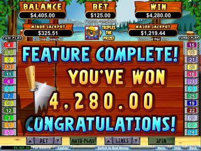 Wild Vegas featuring the Video Slots Builder Beaver with a maximum payout of $250,000