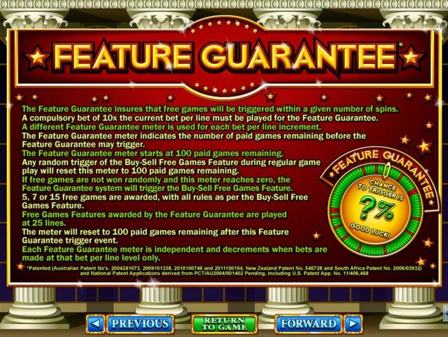 Feature Guarantee Rules
