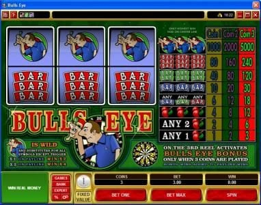 Play slots at Casino Cruise: Casino Cruise featuring the Video Slots Bulls Eye with a maximum payout of $15,000