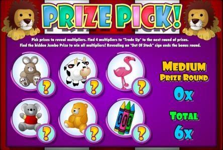 Karamba featuring the Video Slots Bullseye Bucks with a maximum payout of $62,500