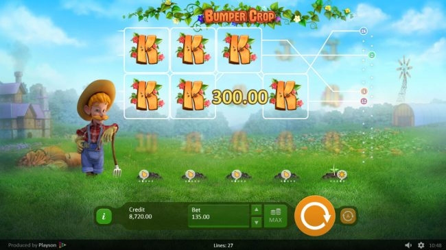 Trada featuring the Video Slots Bumper Crop with a maximum payout of $13,500