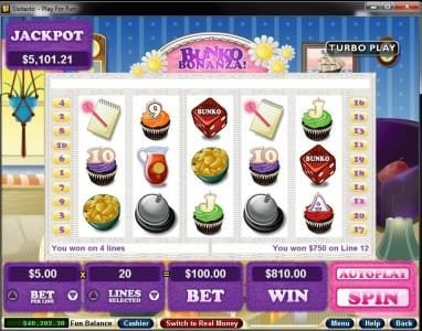 Play slots at Vegas Casino Online: Vegas Casino Online featuring the Video Slots Bunko Bonanza with a maximum payout of $250,000