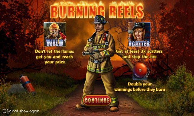 Burning Reels :: Game features include: Wilds, Scatters and Free Spins with Win Multiplier