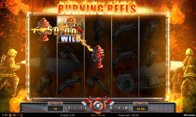 Burning Reels :: Multiple winning paylines