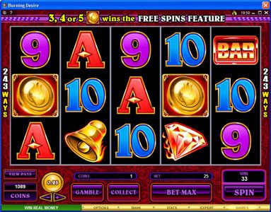 Fika Casino featuring the Video Slots Burning Desire with a maximum payout of $900,000