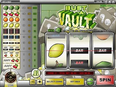 Play slots at 24 Vip: 24 Vip featuring the Video Slots Bust-A-Vault with a maximum payout of $60.000