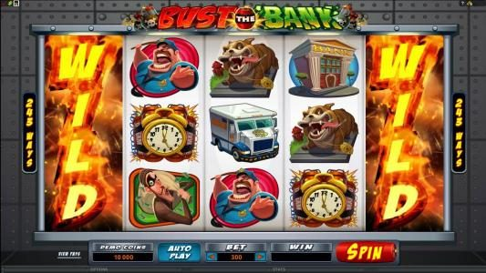 Vegas Joker featuring the Video Slots Bust the Bank with a maximum payout of $15,000.00