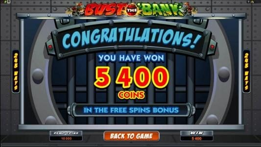 Lucky Nugget featuring the Video Slots Bust the Bank with a maximum payout of $15,000.00