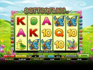 Play slots at Red Queen: Red Queen featuring the Video Slots Butterflies with a maximum payout of $14,000