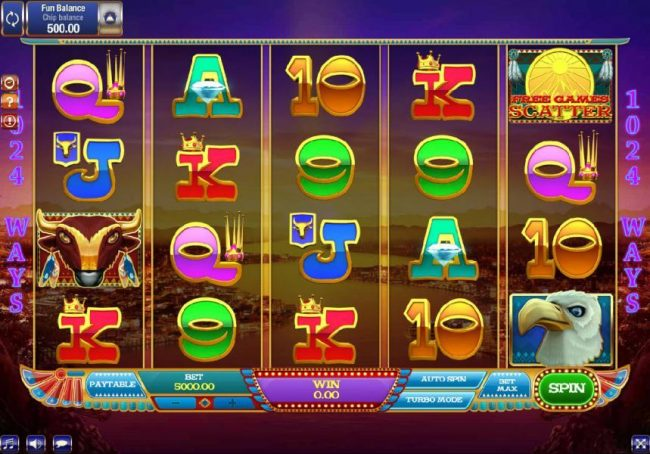 Lota Play featuring the Video Slots By the Rivers of Buffalo with a maximum payout of $1,500,000