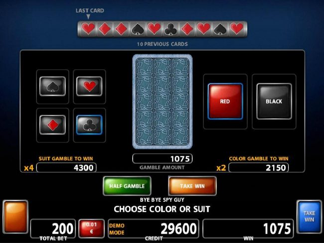 Powerspins featuring the Video Slots Bye Bye Spy Guy with a maximum payout of $200,000
