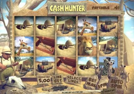 Solara featuring the Video Slots Ca$h Hunter with a maximum payout of $5,000