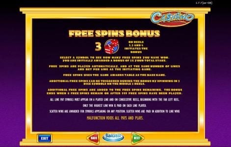 Lucky Bets featuring the Video Slots Ca$hino with a maximum payout of $500,000