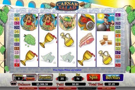 Play slots at Euro Slots: Euro Slots featuring the video-Slots Caesar Salad with a maximum payout of 7,5000x